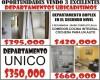 EXCELENTES DEPARTAMENTOS MUY BARATOS